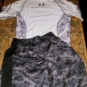 Under armour heat gear shorts outfit mix